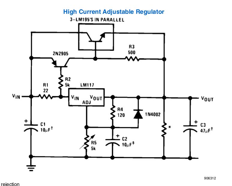 lm317 high current regulator