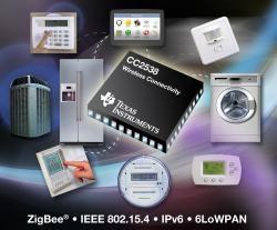 Nowy zintegrowany SoC od TI do obs�ugi ZigBee