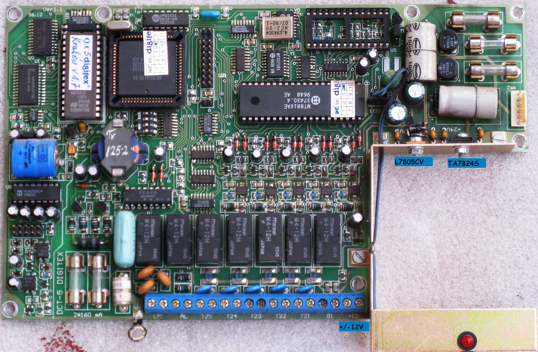 centralka digitex DCT-5 buczy - nie ��czy na linie zew
