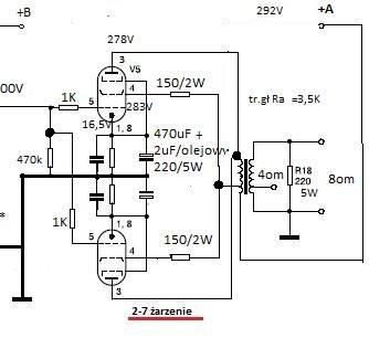 kondensator w katodzie lamp -