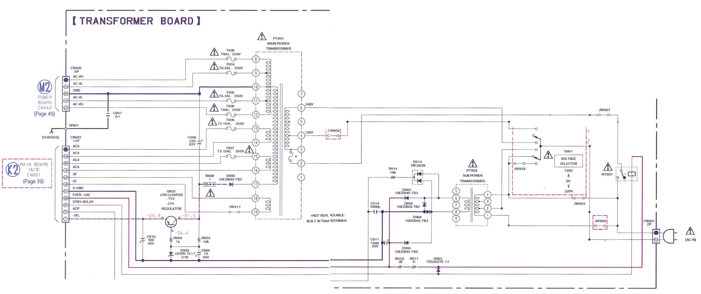 Sony MHC-GX570XM - przerobka zasilania z 110V na 230V