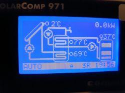 Wspomaganie centralnego ogrzewania solarami sterownikiem SolarComp 971SDB1