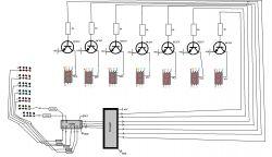 Dobór rezystorów do wyjść transkodera, sterowanie wyświetlaczem 7-segmentowym