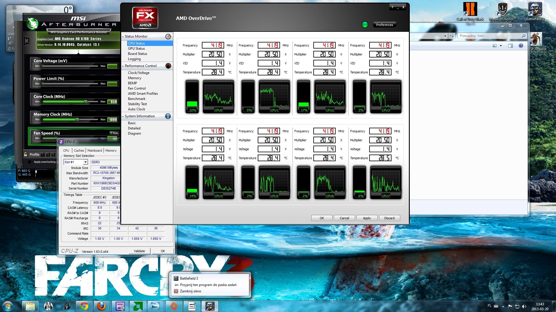Ca�a moc AMD8350 - czy to jest zale�ne od ustawie� w biosie