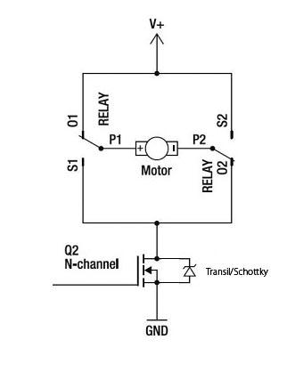 Dobór diody (transil) do silnika DC