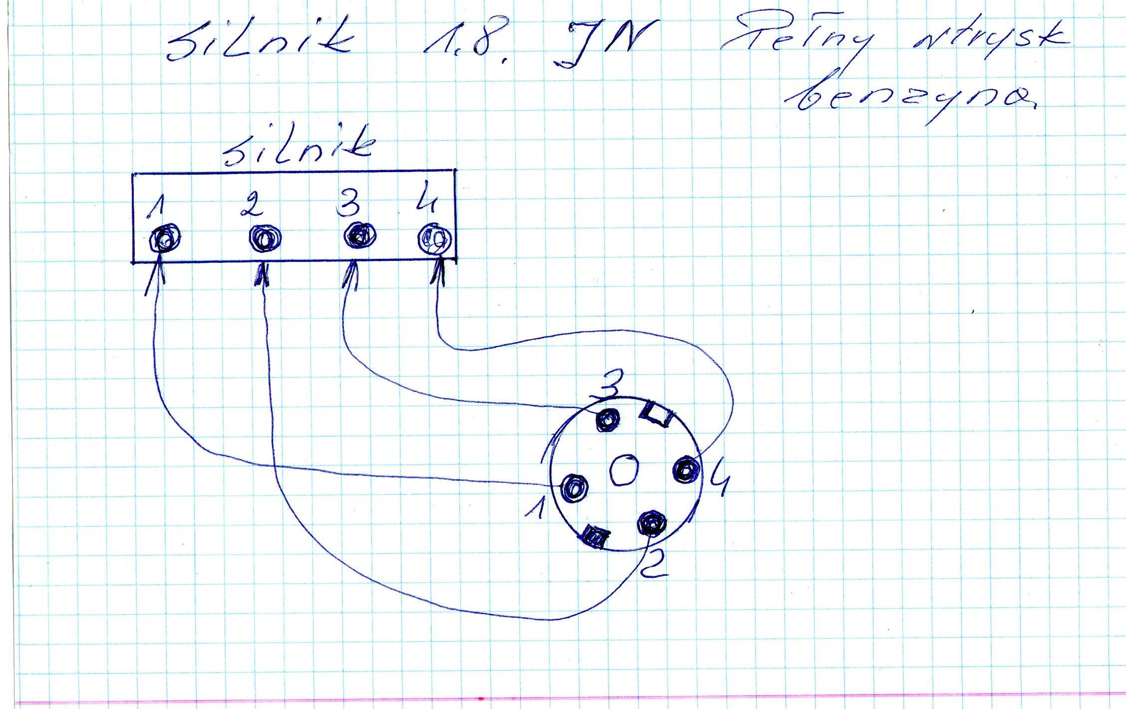 Aparat  Zap�onowy silnika JN - kolejno�� wyprowadze� przewod�w