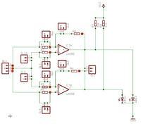 Model laboratoryjnego komparatora napięć