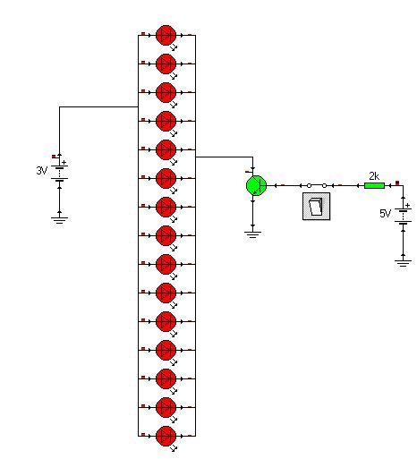 Lampka rowerowa LED 5 kanałów, przeróbka 15 LED na kanał