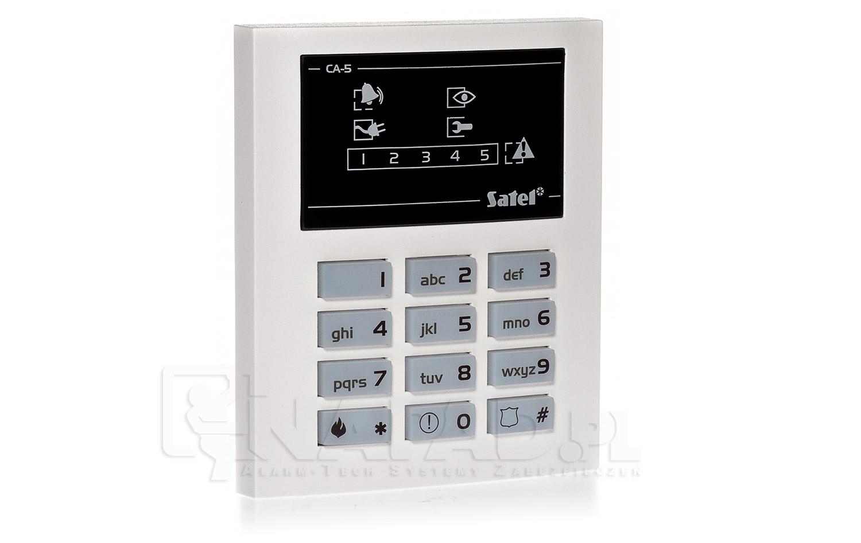Satel CA-5 - Jak odczyta� godzin� logowania? Manipulator LED