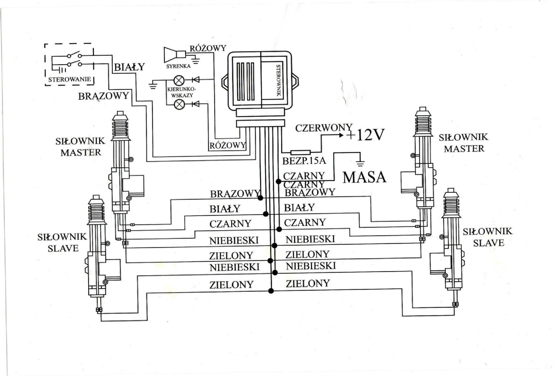 Centralny zamek RTX CL8 po��czenie pod kierunkowskazy
