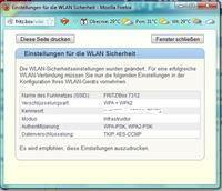 HP DJ 5850 - jak ustawi� WPA/PSK  w po��czeniu z Fritzboxem