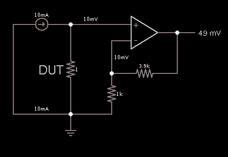 here some error in the circuit (ohm meter circuit) Ohm Meter Schematic on