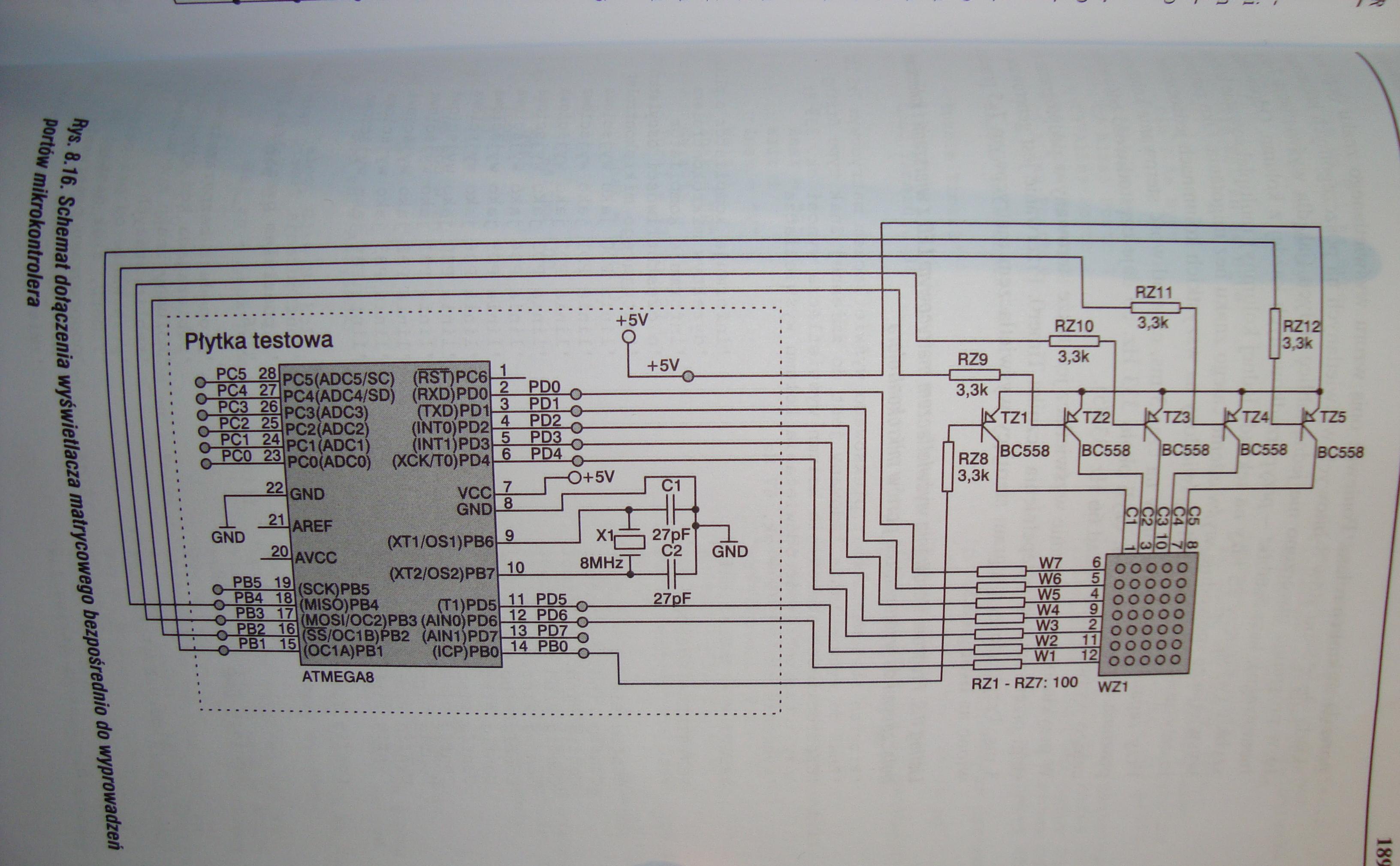 [Atmega32][Bascom]Sterowania multipleksowe wy�wietlaczami matrycowym 7x5 led