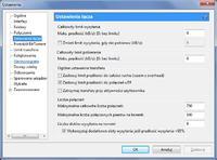 Konfiguracja uTorrent down 3.5 Mb/s up 0.5 Mb/s