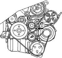 Peugeot 206 1.9d klimatyzacja - Rolka prowadząca paska osprzętu