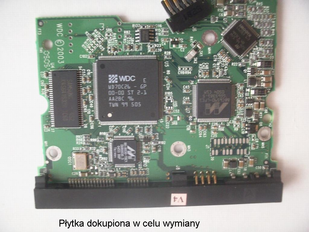 Dysk WD CAVIAR SE WD1600 -stuki po wymianie elektroniki.