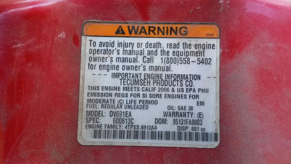 Silnik tecumsech model OV691EA - Rozrusznik nie mo�e obr�ci� ko�em
