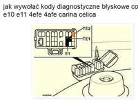 Toyota Corolla E11 - Kody błyskowe - diagnostyka - Nie chce odpalić