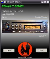 Renault BP8052 - proszę o kod