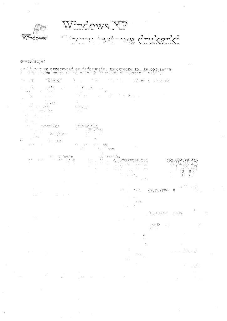 HP CLJ 2550 drukuje po�owe literek