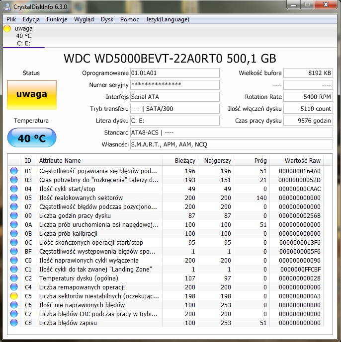 WDC WD5000BEVT-22A0RT0 DRIVER WINDOWS 7 (2019)