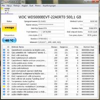 WDC WD5000BEVT-22A0RT0 - Prośba o ocenę SMART