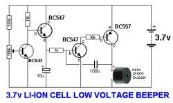 Jaki układ informujący dźwiękowo o rozładowaniu ogniwa 1S ?