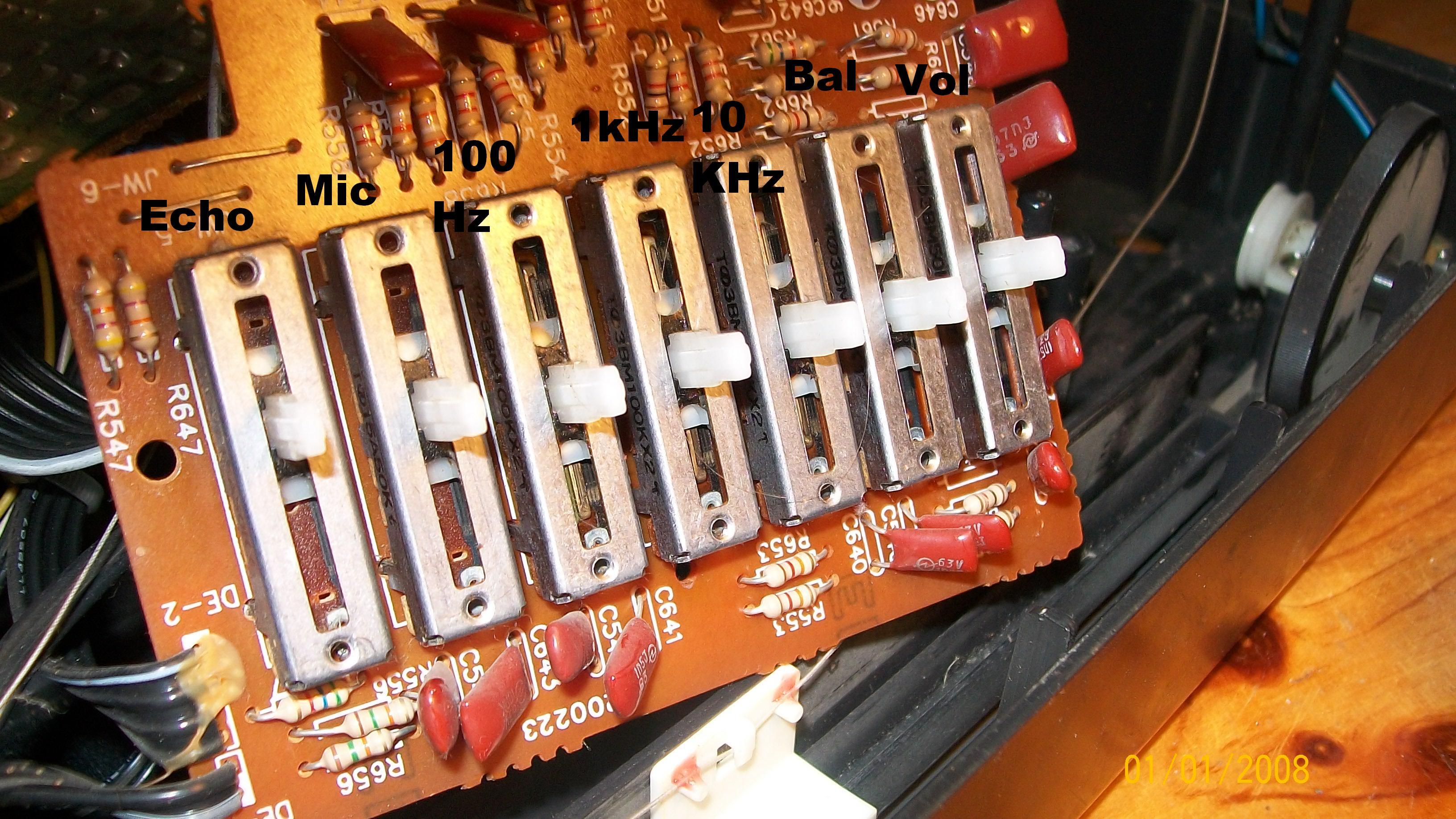 Lasonic LPC93K wysadza kondensator/pod��czenie eqalizer
