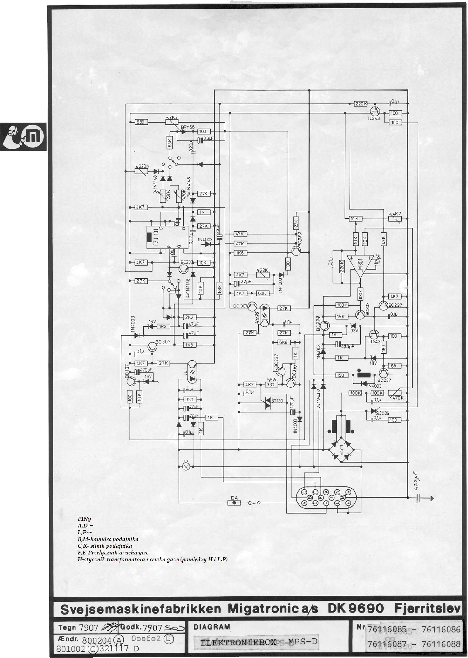 Migatronic compact 160 wysuwa drut od razu po w��czeniu spawarki
