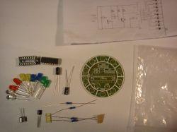 CD4017 kolorowy, sterowany głosem, obrotowy zestaw oświetlenia LED