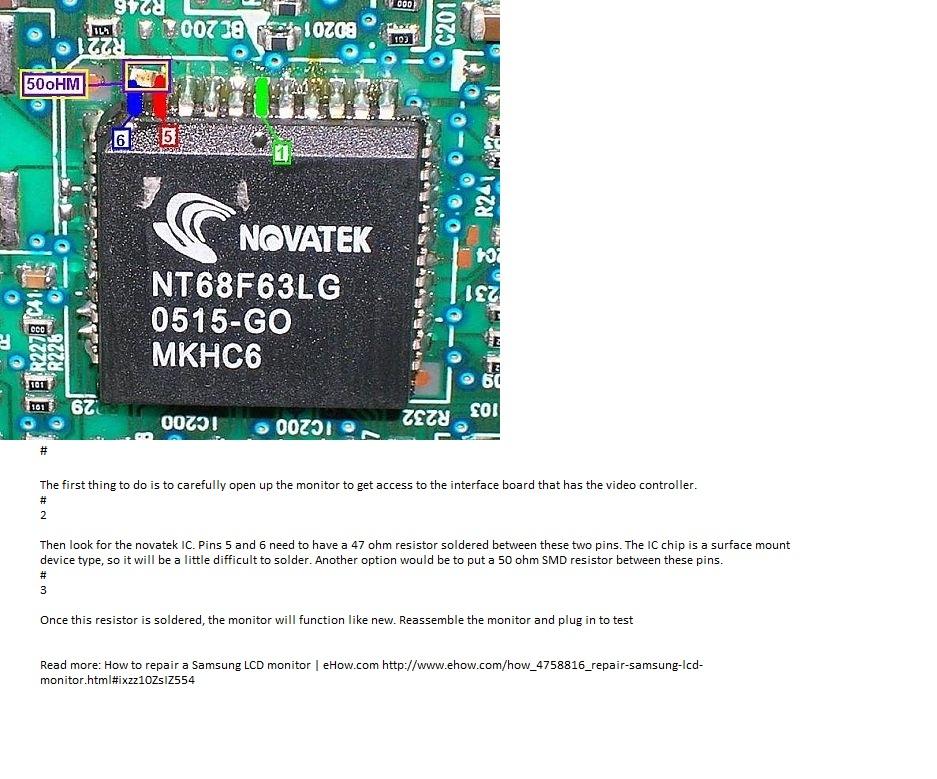 Samsung 940NW - Migotanie / zacinanie ekranu monitora