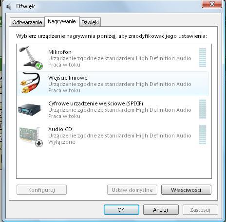 Windows Vista  - Mikrofon nie dzia�a- pow�d brak miksera