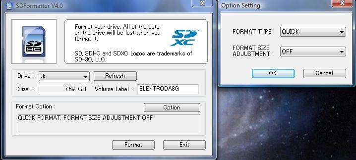 SD Formater 4.0 - narz�dzie do formatowania kart SD