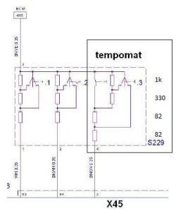 Corsa C 2004 - Tempomat wartości rezystorów