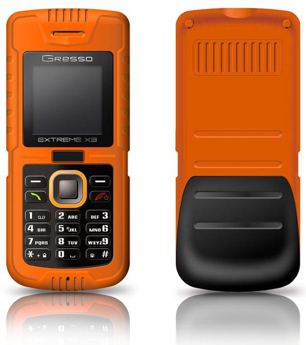 Telefon Gresso Extreme X3 - ekstremalnie odporny na zanurzenie i upadki