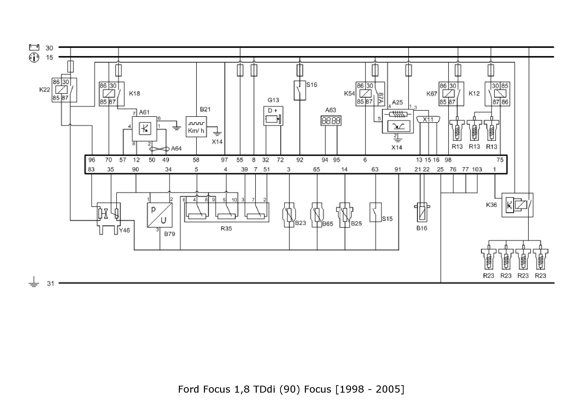 Ford focus 2002 1.8 TDI - schemat instalacji elektrycznej - szukam