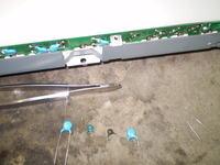 42LG3000 po wymianie 36 kondensatorów w matrycy.