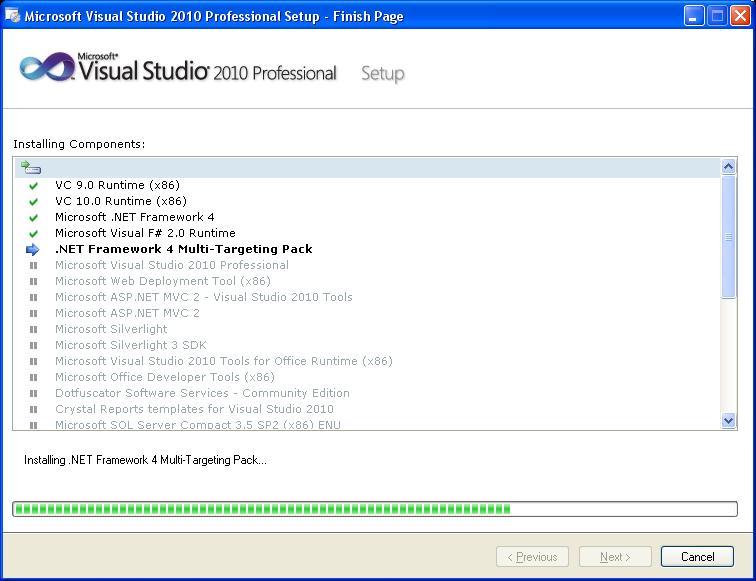 [C#][Visual Studio 2010] - Błąd przy instalacji VS2010