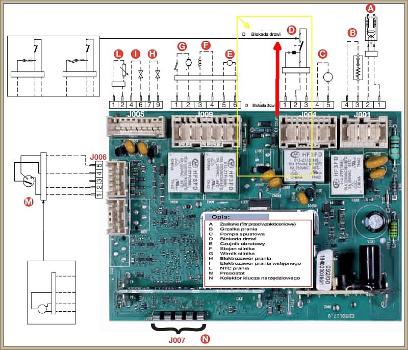 Pralka Indesit IWD 5085 - uszkodzony moduł