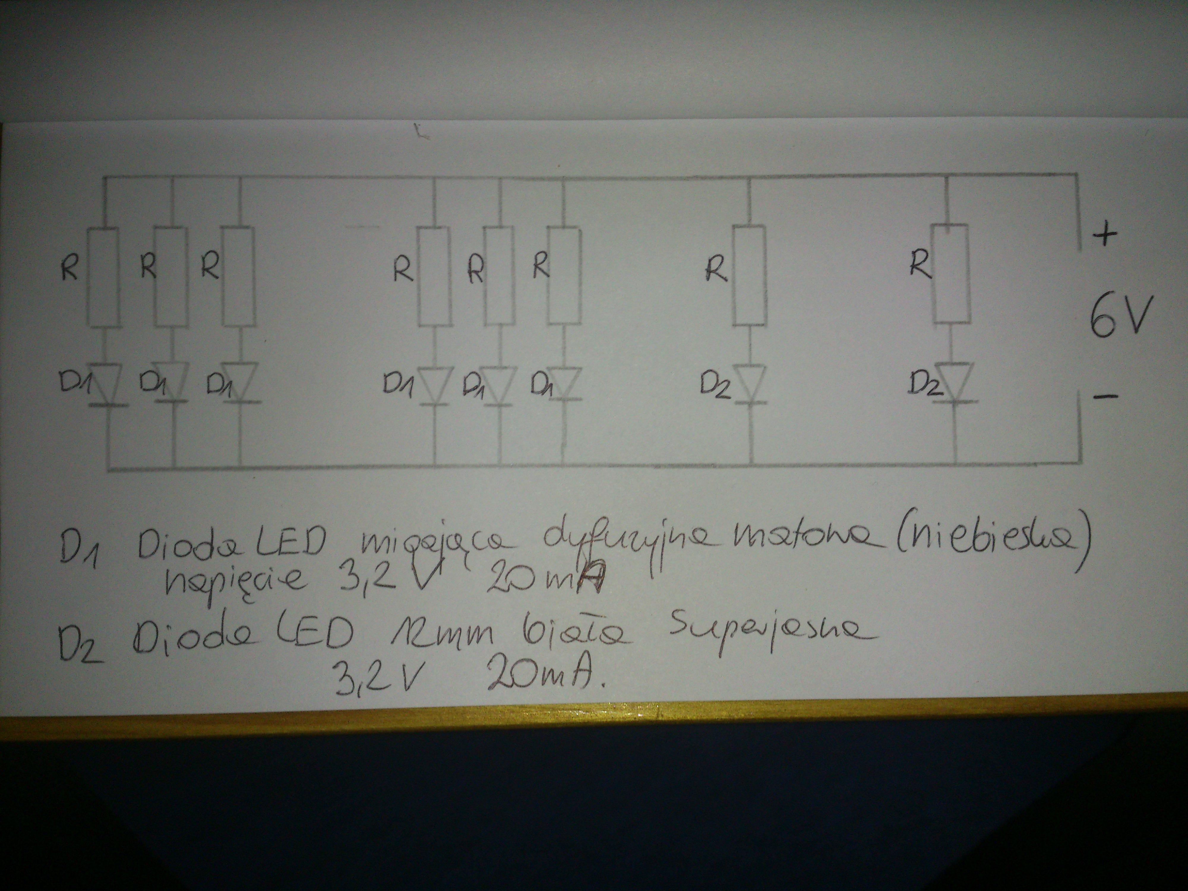 schemat po��czenia dw�ch rodzaj�w diod