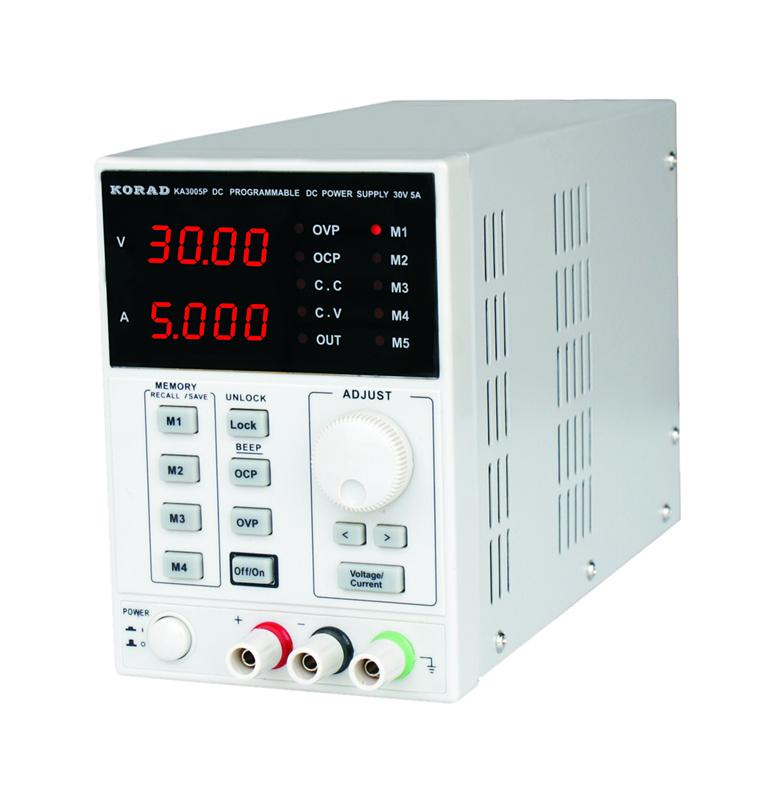 �adowanie akumulatora �elowego zasilaczem laboratoryjnym.