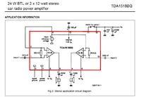 Wzmacniacz tda 1518q - potrzebny schemat