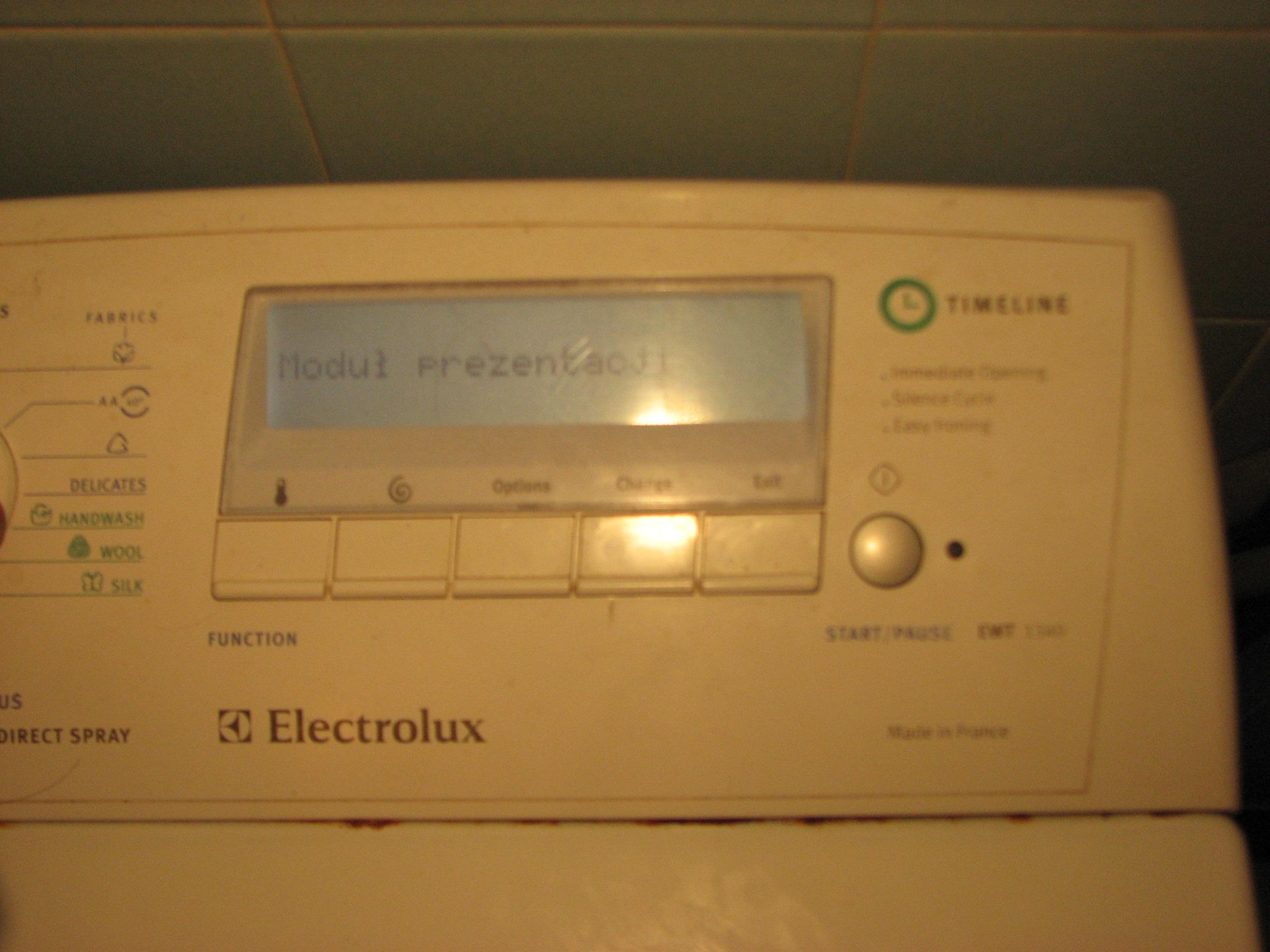 Electrolux EWT 1340 Modu� prezentacji
