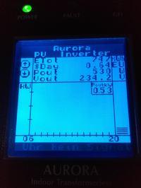 Grid fail AURORA Power-One 3600 błędy inwertera