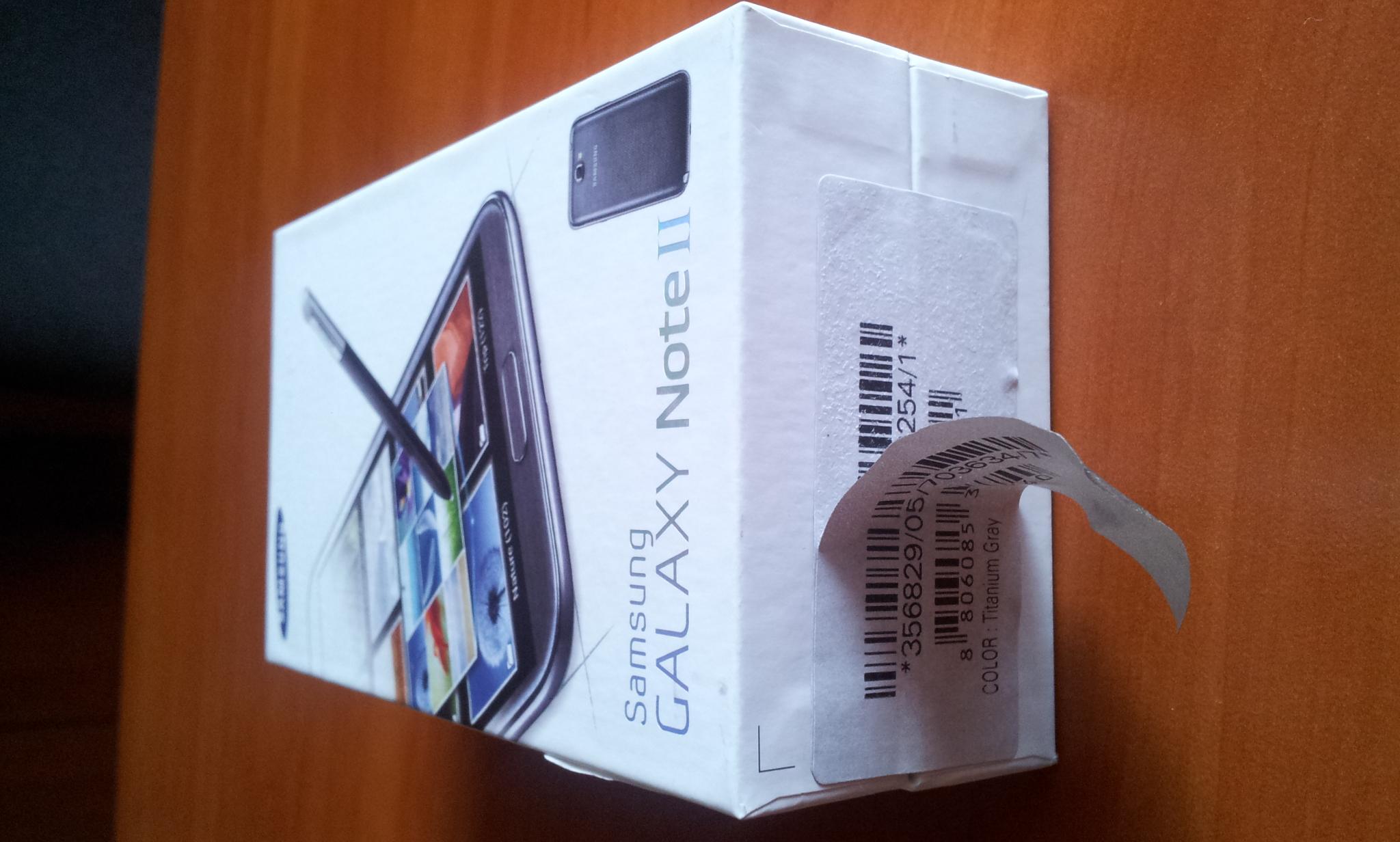 Galaxy Note 2-podw�jne piecz�cie na opakowaniu