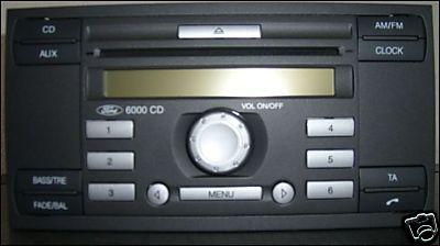 Ford Mondeo 2003 6000CD radio samo sie zalacza i wylacza