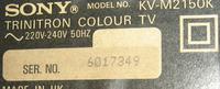 SONY KV M2150K - brak kolorów / brak obrazu