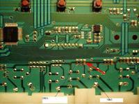 Amica PA5580B421 -> spalony tranzystor ma plycie sterujac