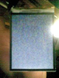 Nokia E66 mrowki na wyswietlaczu.
