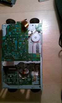 Zmieniarka Sony CDX-656 napis PRESS RESET